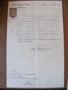 Karel Bohuslav von Lányi, 1911 kříž II třídy (Národní muzeum v Praze fond Lány - Rodinný archiv)