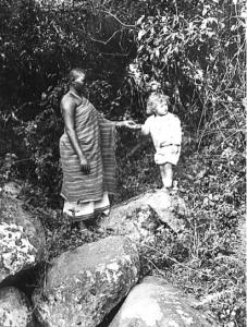 Martin Lány ml. se svou chůvou, Maranga Afrika