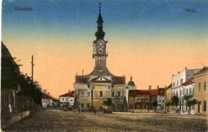 Stara pohlednice s Lanyovskym domem v Kežmarku 1890-1900