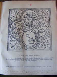 erb Jacoby-Lány z Krigu genealogie Theodor Lányi (Národní muzeum v Praze fond Lány - Rodinný archiv)