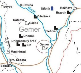 mapa Gemer
